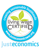 Living Wage Certified logo certifying TVS as a business with an inclusive workforce.
