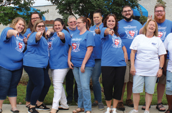 Employees during DSP Week, supporting adults with disabilities.
