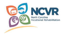 North Carolina Department of Vocational Rehabilitation logo.